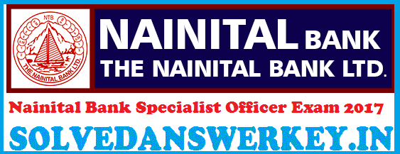 Nainital Bank Specialist Officer Exam 2020