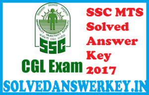 SSC MTS Solved Answer Key 2017 PDF