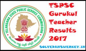 TSPSC Gurukul Teacher Results 2020 PDF