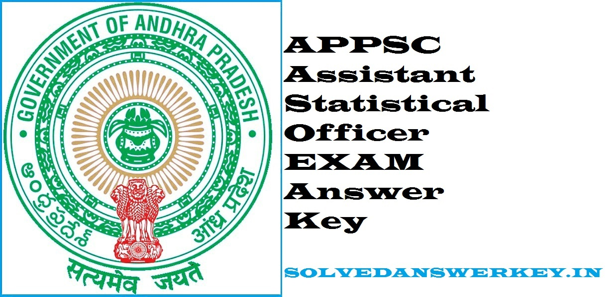 APPSC Assistant Statistical Officer Examination 2019
