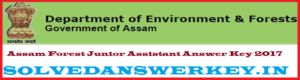 Assam Forest Junior Assistant Answer Key 2017 PDF