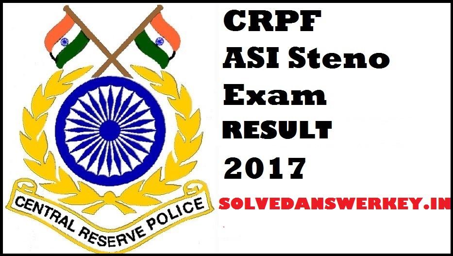 CRPF ASI Steno Answer Key 2017 Download