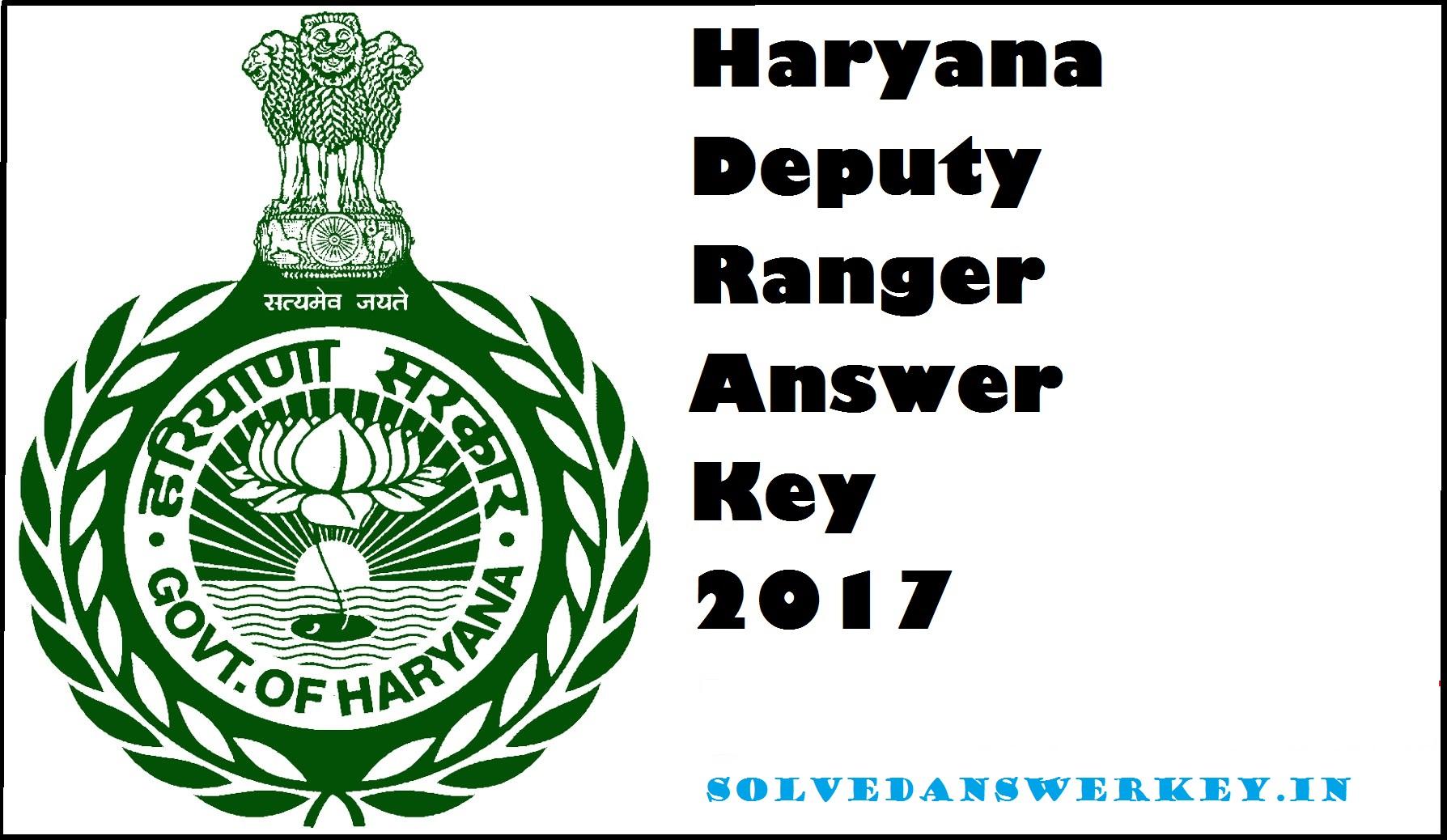 HSSC Deputy Ranger Examination 2019