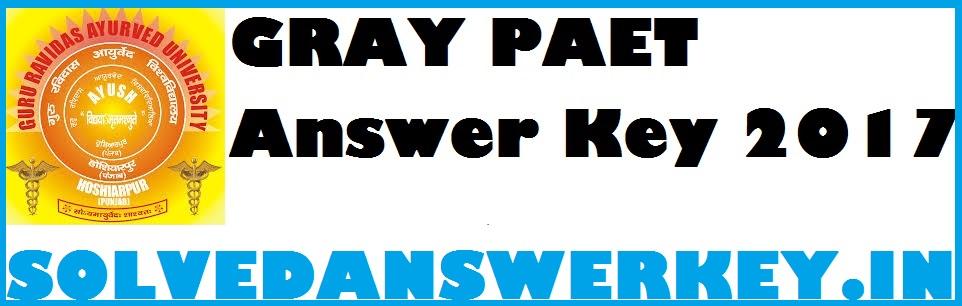 GRAU PAET 2017 Answer Key