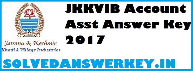 JKKVIB Account Asst Answer Key 2017 PDF
