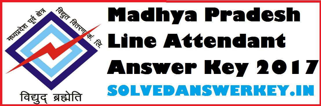 Madhya Pradesh Line Attendant Answer Key 2017 PDF Download