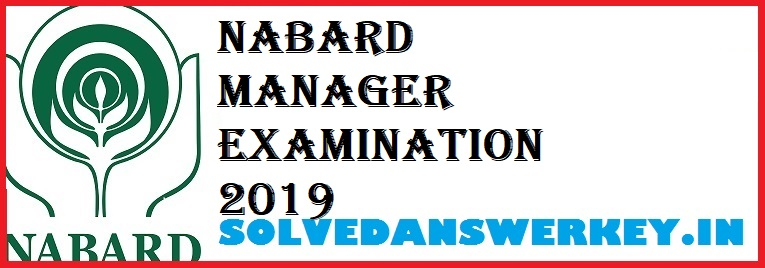 NABARD Manager Exam 2020