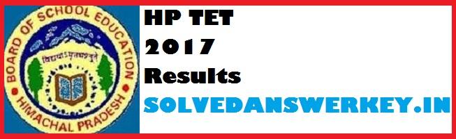HP TET 2017 Results PDF