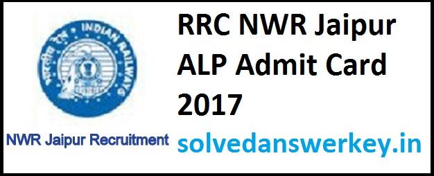 RRC Jaipur ALP Admit Card 2017 PDF