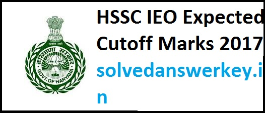 HSSC IEO Expected Cutoff Marks 2017 PDF