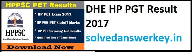 DHE HP PGT Result 2017 PDF