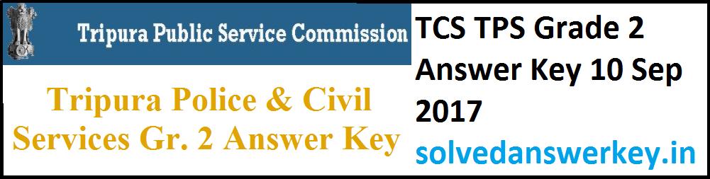 TCS TPS Grade 2 Answer Key 10 Sep 2017 PDF