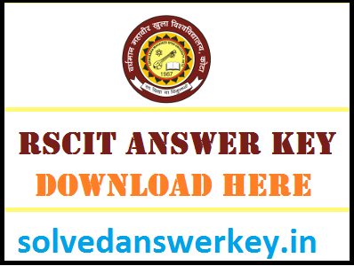 RKCL RSCIT Answer Key PDF