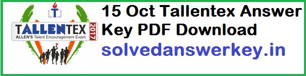 Tallentex Answer Key PDF Download