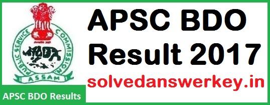 APSC BDO Result PDF