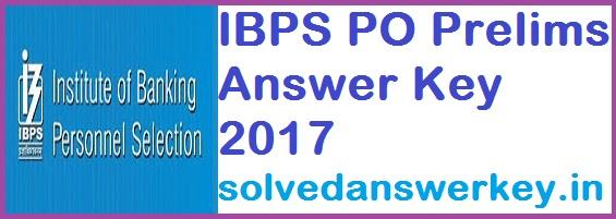 IBPS PO Prelims 2017 Answer Key