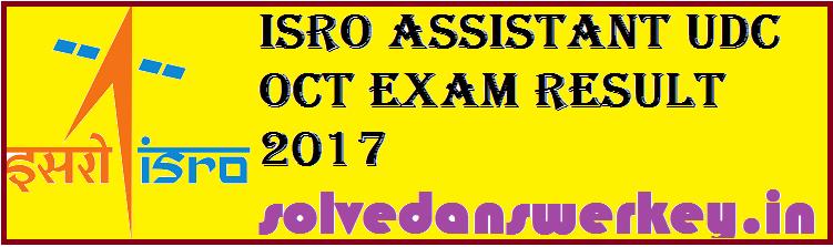 ISRO Assistant UDC Oct Exam Result