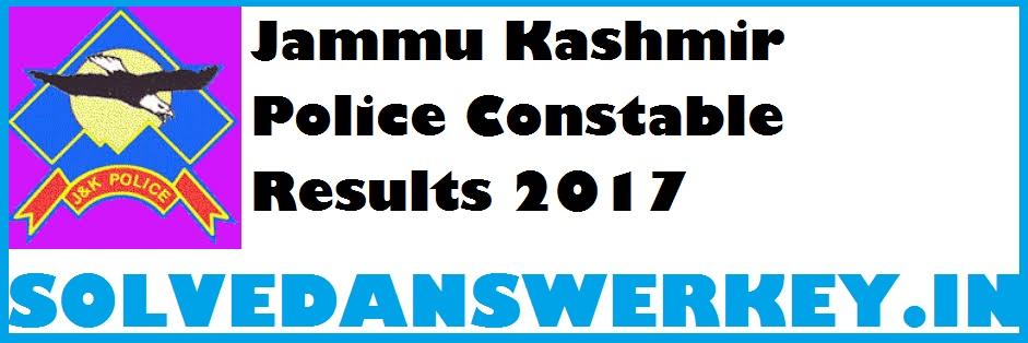 Jammu Kashmir Police Constable Results 2017