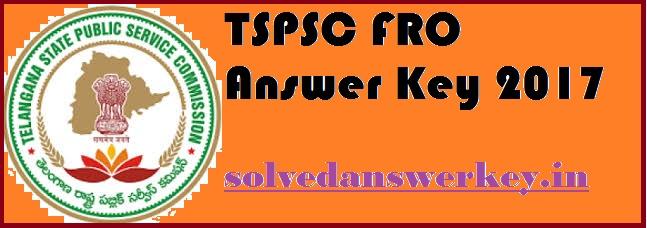 TSPSC FRO Answer Key PDF