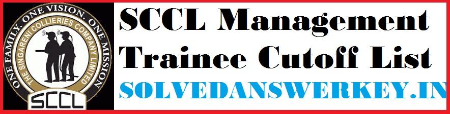 SCCL Management Trainee Cutoff List