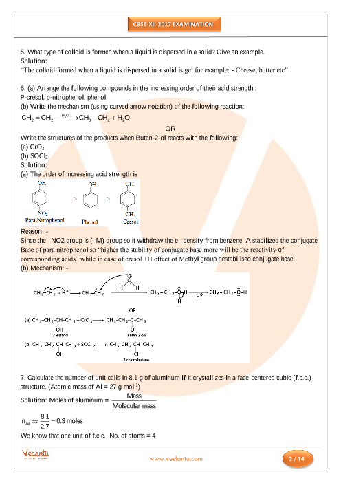 CBSE Board Class 12th Chemistry Old Question Paper Download