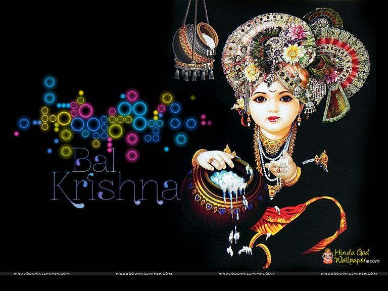 HD Wallpaper of God Krishna Festival Janmashtami