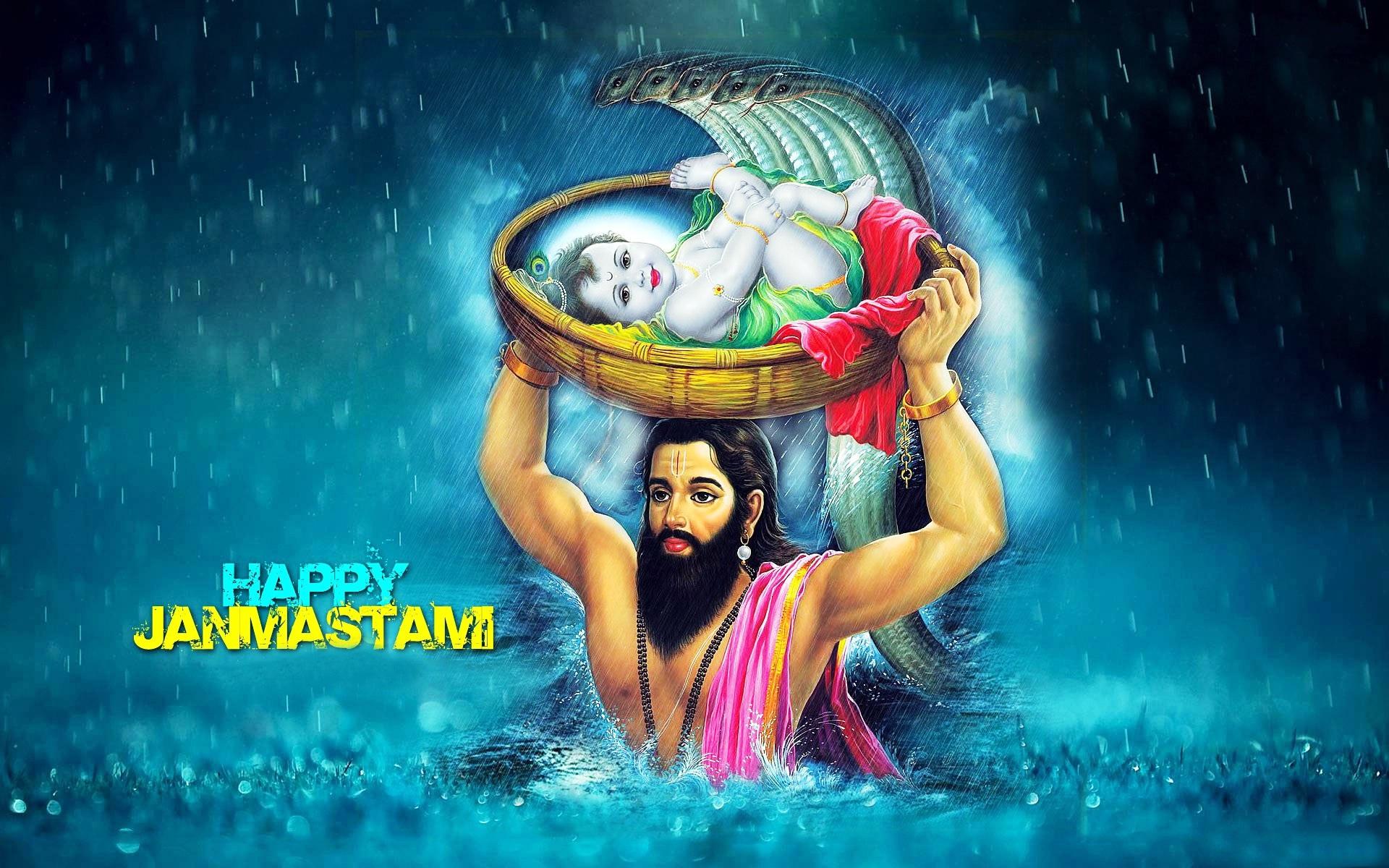 Happy Janmashtami Kanha Wallpaper