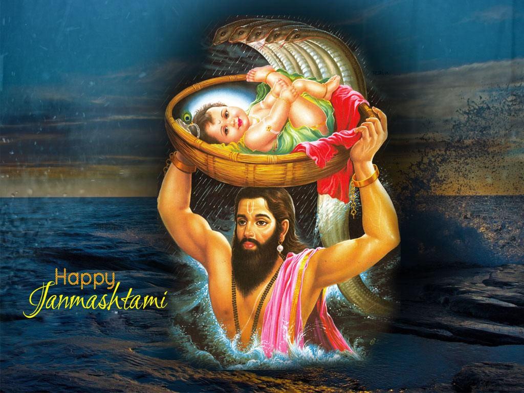 Happy Krishna Janmashtami Mahotsav Desktop Background Picture