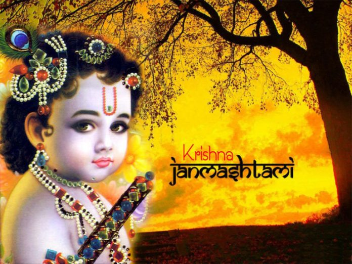 Indian Hindu Festival Krishna Janmashtami Photo