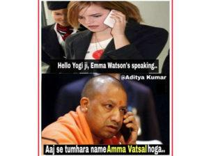 Aaj Se Tumhara Naam Yogi Adityanath Funny Jokes Pics