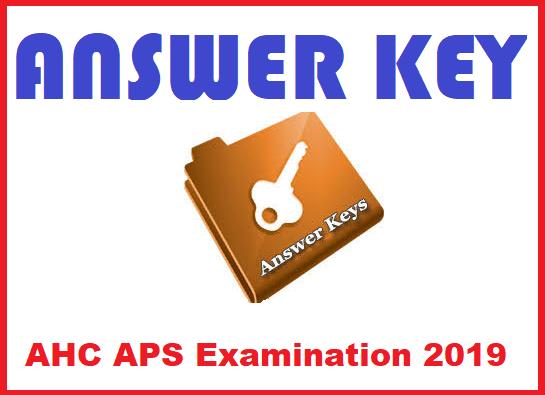 AHC APS Examination 2019