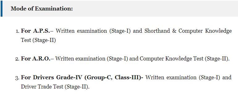 AHC ARO Examination Result 2019