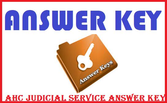 AHC Judicial Service Examination 2019
