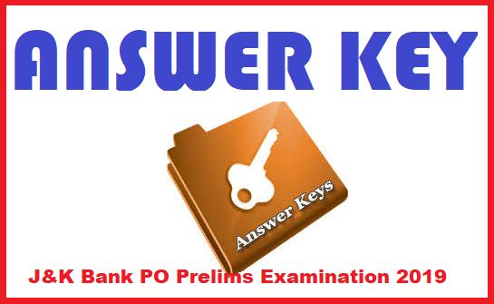 J&K Bank PO Prelims Examination 2019