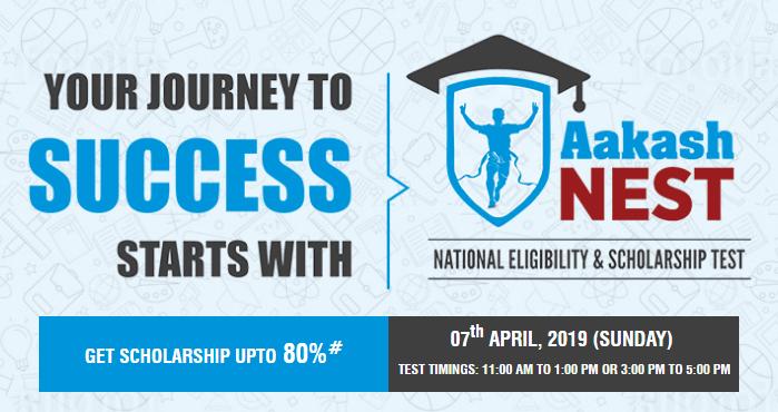 Aakash NEST Examination 2019