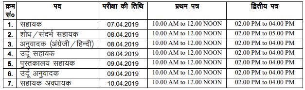 Bihar Vidhan Sabha Assistant Mains Examination 2019
