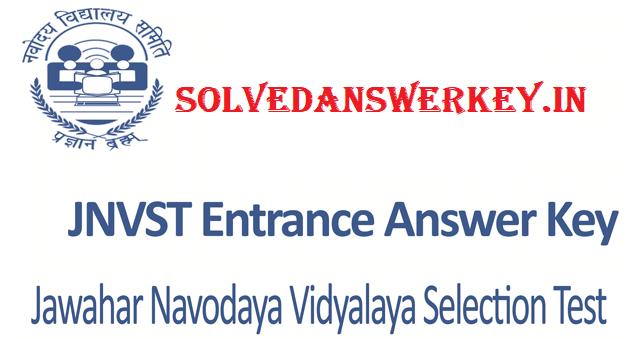 JNVST Class 6th Entrance Examination 2019