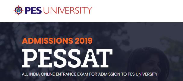 PESSAT B.tech Entrance Examination 2019