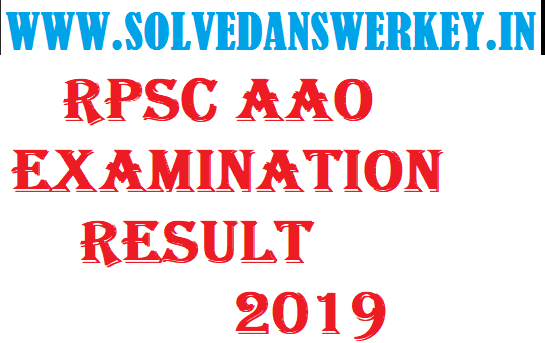 RPSC AAO Examination Result 2019