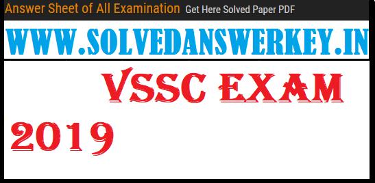 VSSC Examination 2019