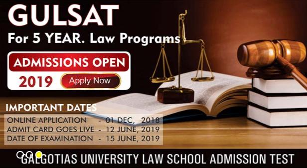 Galgotias University Law School Admission Test 2019