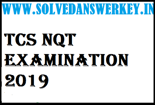 TCS NQT Examination 2020