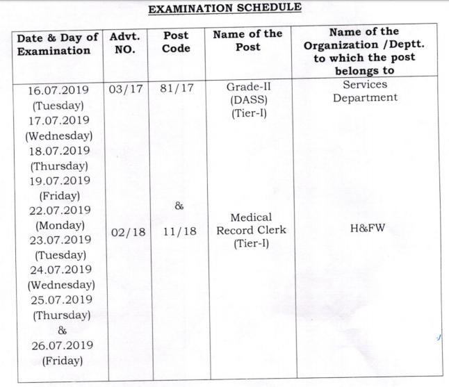 DSSSB DASS Grade 2 Examination 2019