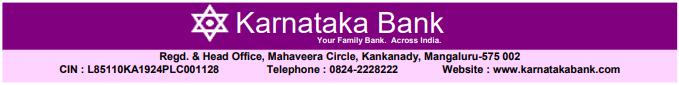 Karnataka Bank Clerk Examination 2019