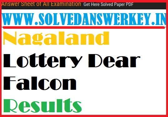 Check Nagaland Lottery Dear Falcon Results