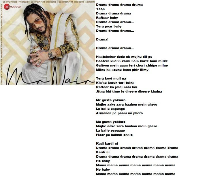 Drama Raftaar Full Song Lyrics