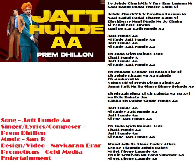 Jatt Hunde Aa Punjabi Song MP3 Download